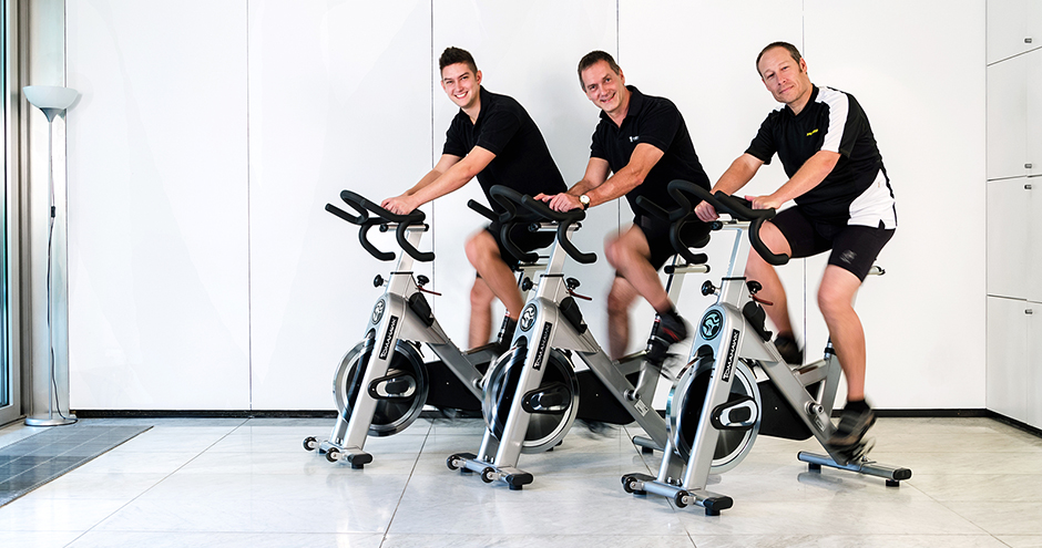 Indoor Cycling Gruppenfoto